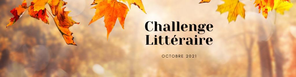 Challenge littéraire octobre